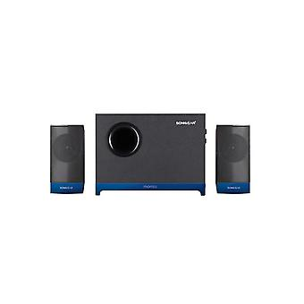 SonicGear Morro 2 2.1 Speaker With Wooden Sub Woofer Set - Blue