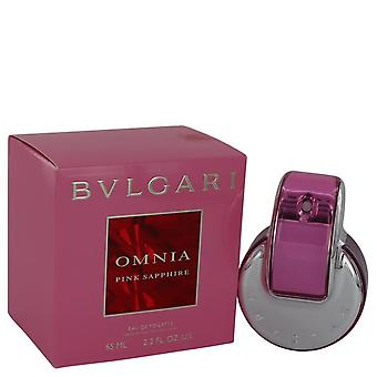 Omnia rosa safira Eau De Toilette Spray por Bvlgari 2,2 oz Eau De Toilette Spray