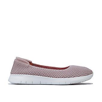 Women's Fit Flop Airmesh Ballerina Shoes in Cream