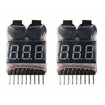 2 Stück 1-8S Lipo LiMn Batterie Tester Niederspannung Buzzer Alarm
