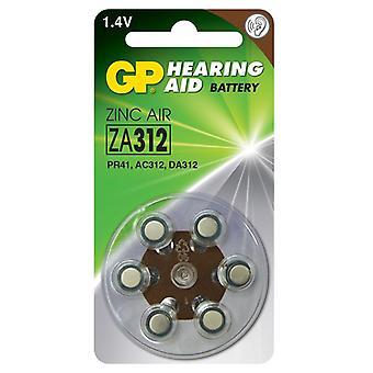 ZA 312 Batterie d'aide auditive 6-p