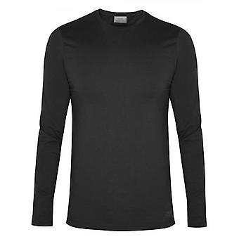 CC Collection Corneliani Black Long Sleeve Crew Neck T-Shirt