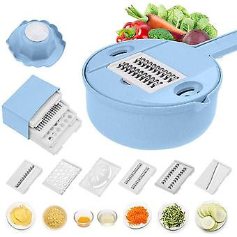 Vegetable Cutter With Steel Blade, Slicer Potato, Peeler Carrot, Cheese Grater,