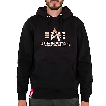 Alpha Industries Men's Hooded Sweater Basic Foil Print