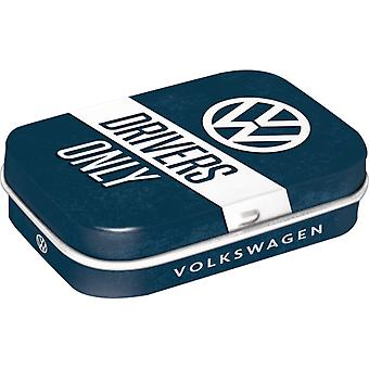 VW Drivers Only Nostalgic Sugar Free Mint Tin - Cracker Filler Gift
