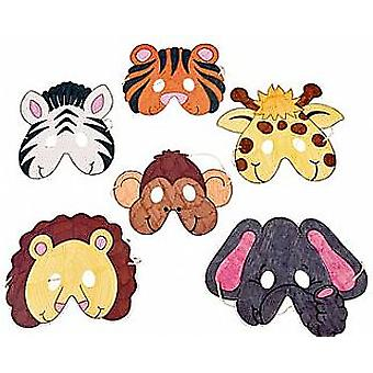 12 Wild Animal Colour In Masks to Decorate for Crafts