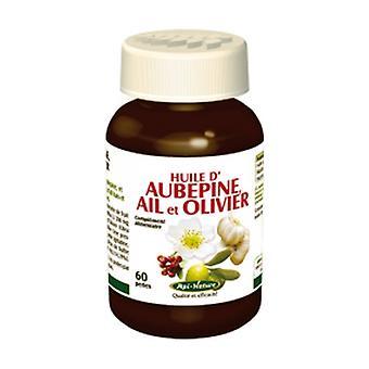 Hawthorn oil, garlic, olive tree 60 softgels
