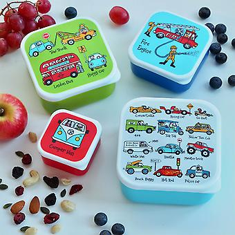 Tyrrell Katz Set of 4 Cars Snack Boxes for Kids