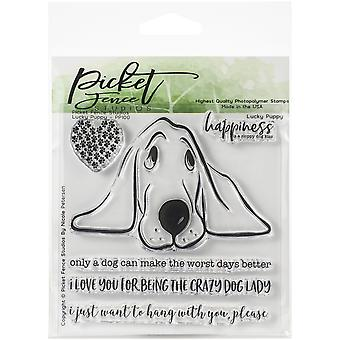 Picket Fence Studios Lucky Puppy Clear Stamps