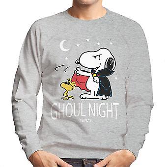 Peanuts Ghoul Night Snoopy & Woodstock Men's Sweatshirt