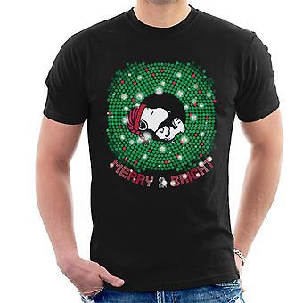 Orzeszki ziemne Snoopy Asleep Merry i jasny t-shirt męski