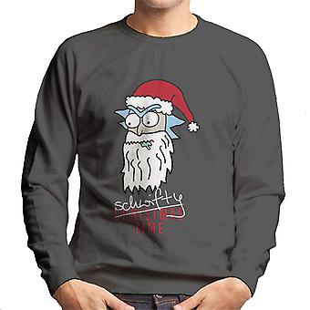 Rick and Morty Santa Rick Schwifty Time Men's Sweatshirt