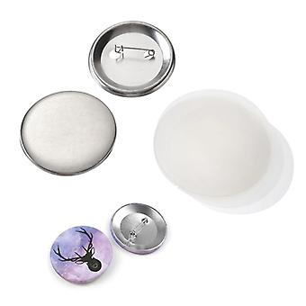 Metal Blank Badge Pin Button Parts For Clothes