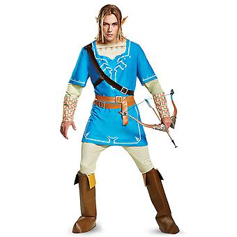 Link Breath Of The Wild Deluxe The Legend of Zelda Video Game Mens Costume XL