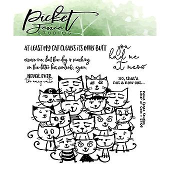 Picket Fence Studios Nest of Cats Clear Stamps