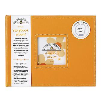 Doodlebug Diseño Tangerine 8x8 pulgadas Storybook Album