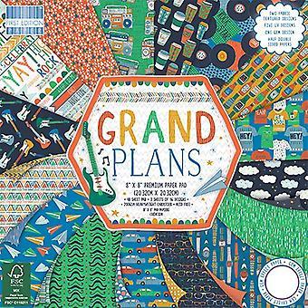 Primera edición 8x8 pulgadas paper Pad Grand Plans