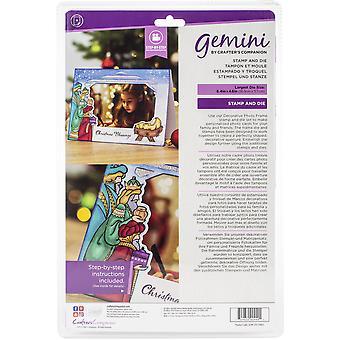 Gemini Christmas Blessings Photo Frame Stamp & Meurt