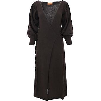Andamane 2000wdarkbrown Women's Brown Wool Dress