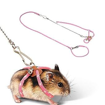 Petit animal de compagnie réglable soft harness leash bird parrot mouse hamster ferrets rat