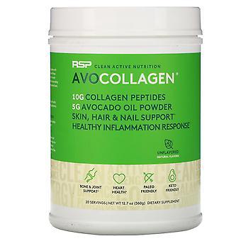 RSP Nutrition, AvoCollagen, Collagen Peptides & Avocado Oil Powder, Unflavored,