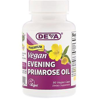 Deva, Vegan, Premium Evening Primrose Oil, 90 Vegan Caps