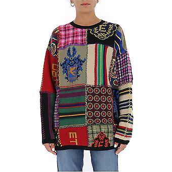 Etro 1n33697048000 Männer's Multicolor Wollpullover