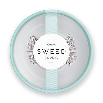 SWEED False Pro Eyelashes - Chiara - Brown - Easy to Apply Luxury Fake Lashes
