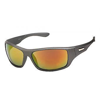 Sunglasses Unisex Grey-Orange (20-263)