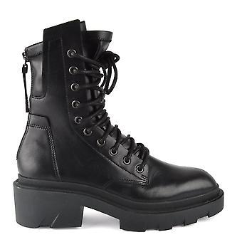 Ash Footwear Madness Leather Biker Botas Pretas