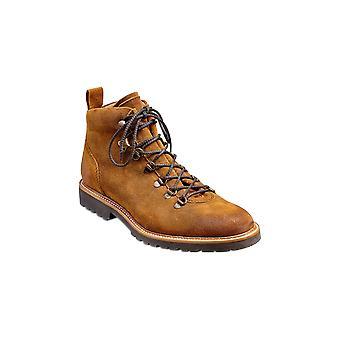 Barker Glencoe - Tan Burnish Suede  | Mens Handmade Leather Boots | Barker Shoes