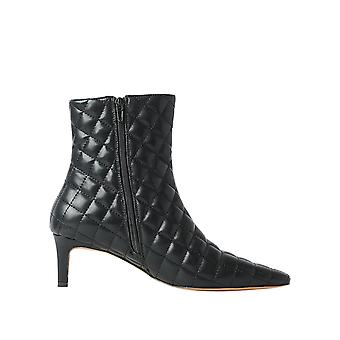 Na-Kd Women's Quilted Extended Squared Toe Boots