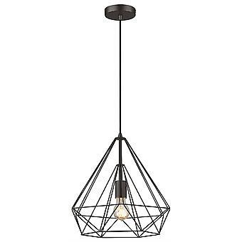 Lenteverlichting - 1 lichtdraadje kleine plafondhanger Mat Zwart, E27
