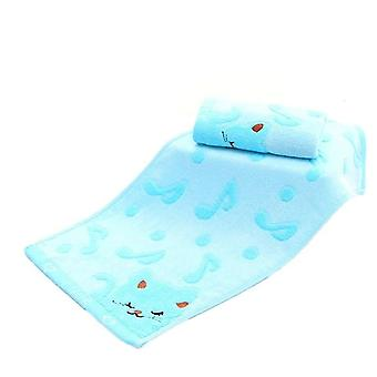 Bamboo Fiber Twistless Music Cat Baby Wash Towels - Spa Facial Bath Towel