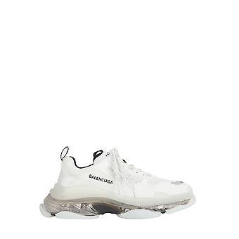Balenciaga 541624w2gs19012 Herren's Sneakers aus weißem Leder