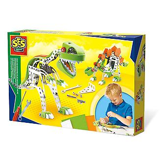 SES Creative Metal Dinosaur Construction Set Unisex Multi-color (14958)
