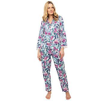 Cyberjammies Nora Rose Jennifer 1446 Naiset'Violetti Kukka Print Pyjama Setti