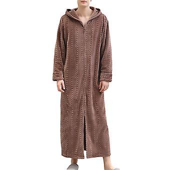 Men's pajamas, fluffy bathrobes in winter, soft and warm pajamas