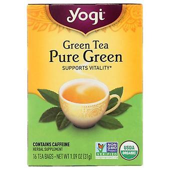 Yogi Green Tea Pure Green, 16 bags