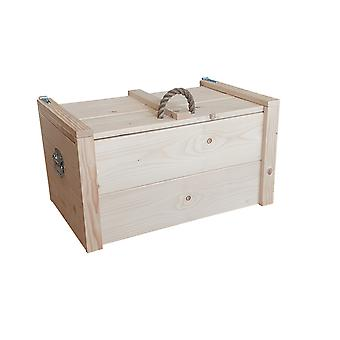 Wood4you - Spielzeug Box Armee Feuern Holz - 80Lx44Hx50D cm