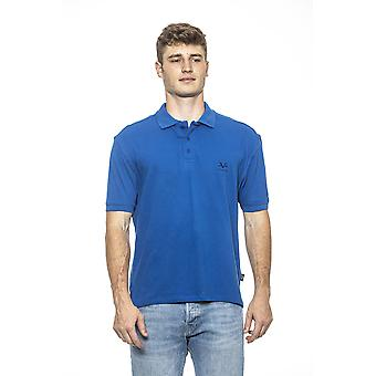 19v69 men's Aquarius Blue Polo