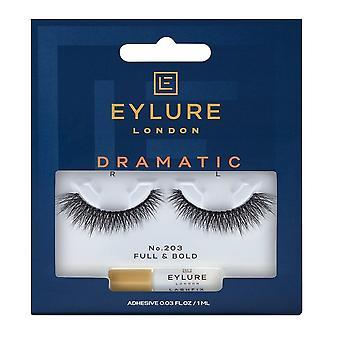 Eylure Dramatic False Eyelashes - No.203 (adhesive Included)