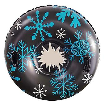 Floated Sled Board With Handle Winter Skiing Snowboarding Circle Tubes Ring
