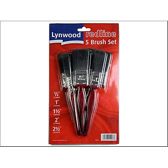 Lynwood Redline Paint Brush Set 5 Piece BR505