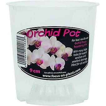 Growth Technology Clear Orchid Pot 9cm - 1