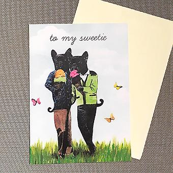 To My Sweetie French Bulldog - Greeting Card