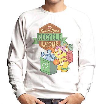 Care Bears låse opp den magiske redusere gjenbruk resirkulere kjærlighet menn og apos; s Sweatshirt