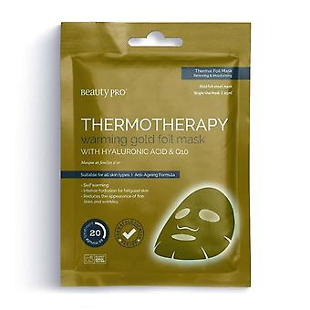 Beauty Pro Thermotherapy Warming Gold Foil Face Mask