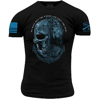 Grunt Style USN - The Enemy Is Ours T-Shirt - Nero