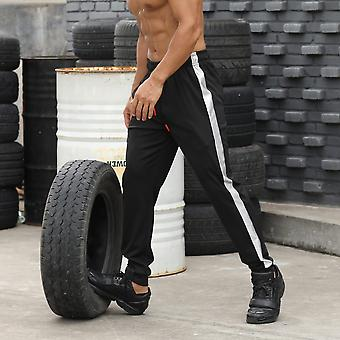 Men's Sport Stripes Zipper Pockets Training Pants